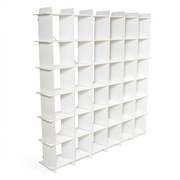 Sprout Kids 36 Cubby Large Bookshelf - White