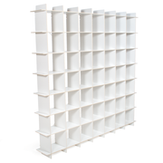 Sprout Kids 49 Cubby Large Bookcase - White