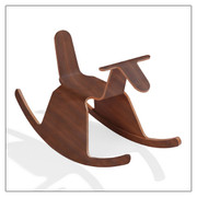OFFI RIGA ROO ROCKING HORSE - WALNUT