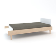 Oeuf River Twin Bed in White and Birch