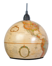 SHINER WORLD GLOBE LIGHT - ANTIQUE FINISH 9""