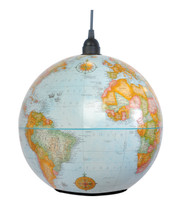 "Shiner World Globe Light - Blue Finish  9"""