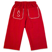 Princess Linens Corduroy Pants - Red/White