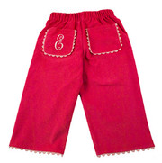 Princess Linens Corduroy Pants - Hot Pink/Light Pink