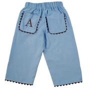 Princess Linens Corduroy Pants - Blue/Brown