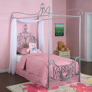 Powell Princess Rebecca Canopy Twin Size Bed