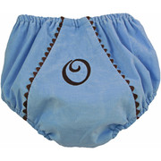 Princess Linens Bon Bon Baby Blue and Chocolate Corduroy Fancy Pant