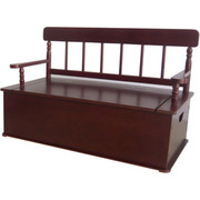 Levels of Discovery Simply Classic Cherry Finish Bench Seat with Storage