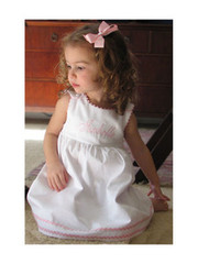 Princess Linens Garden Princess Dress with Orchid Trim