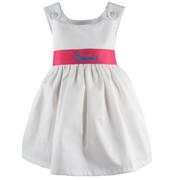 Princess Linens Garden Princess Pique Dress-Hot Pink Sash
