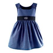 Princess Linens Garden Princess Navy Gingham Dress-Navy Sash