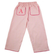 Princess Linens  Pique Pants - Pink/Hot Pink
