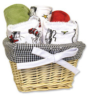 Trend Lab Dr. Seuss Cat in the Hat 7 Piece Basket Gift Set