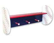 Trend Lab Baseball Shelf with Peg Hooks