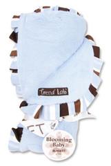 Trend Lab Max Velour Ruffle Blanket