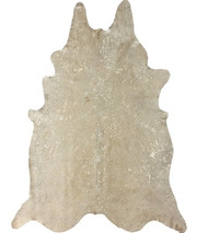 nuLOOM Rugs Hides Devour Cowhide in White - Size 5 x 7