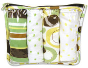 Trend Lab Giggles Zip Pouch 4 Pack Burp Set