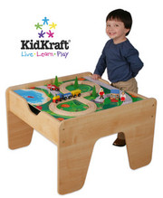 KidKraft 2-in-1 Activity Table with Lego Board in Natural