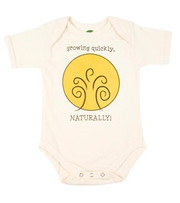 The Green Creation Growing Quickly Naturally Short Sleeve Bodysuit in Natural - Size 0 to 3 Months