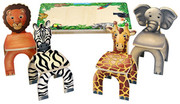 Anatex Safari Table and Animal Chairs