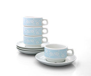 notNeutral Flora Cup and Saucer - Set of 4