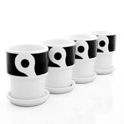 notNeutral Links Mug with Lid - Set of 4