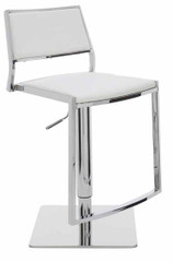 Nuevo Living Aaron Modern Adjustable White Nauga Color Stool