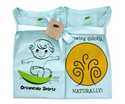 The Green Creation T-Shirt Combo - Originally Sporty and Growing Quickly Naturally in Bubble Blue - Size 12 to 18 Months