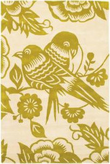 Chandra Rugs Thomas Paul - Tufted Pile Lovebirds Corn-Cream Area Rug