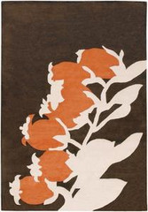 Chandra Rugs Thomas Paul - Tufted Pile Buds Brown-Orange Area Rug