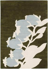 Chandra Rugs Thomas Paul - Tufted Pile Buds Green-Dove Area Rug