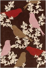 Chandra Rugs Thomas Paul - Tufted Pile Goldfinch Chocolate-Taupe-Persimmon Area Rug