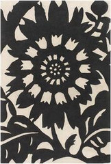 Chandra Rugs Thomas Paul - Tufted Pile Zinnia Ebony-Cream Area Rug