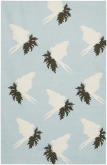 Chandra Rugs Thomas Paul - Flatweave Dhurrie Swallows Powder-Cream Area Rug