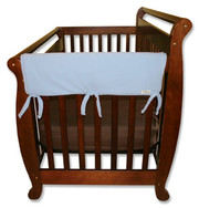 Trend Lab CribWrap Convertible Crib Rail Cover - 27 Inch Blue Fleece