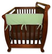 Trend Lab CribWrap Convertible Crib Rail Cover - 27 Inch Sage Fleece
