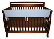 Trend Lab CribWrap Convertible Crib Rail Cover - 51 Inch Blue Fleece