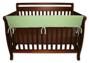 Trend Lab CribWrap Convertible Crib Rail Cover - 51 Inch Sage Fleece
