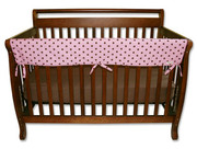 Trend Lab CribWrap Convertible Crib Rail Cover - 51 Inch Maya Dot