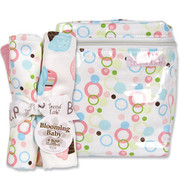 Trend Lab Cupcake Bottle Bag and Burp Set