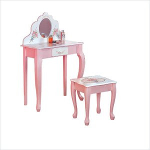 Groovy Teamson Design Kids Childrens Vanity Table And Stool Lamtechconsult Wood Chair Design Ideas Lamtechconsultcom