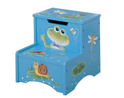 Teamson Design Kids Froggy Childrens Step Stool with Storage