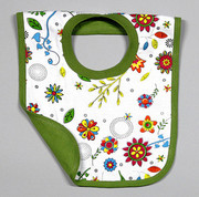 The Green Creation Reversible Bib - Retro Flowers