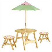 Teamson Design Kids Magic Garden Outdoor Table and 2 Chair Set