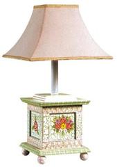 Teamson Design Kids Pink Crackle Girls Desk Lamp