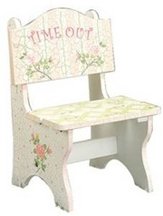 Teamson Design Kids Pink Crackle Time Out Chair