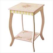 Teamson Design Kids Pink Crackle End Table