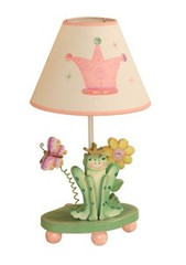 Teamson Design Kids Princess and Frog Crown Table Lamp