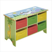 Teamson Design Kids Sunny Safari Storage Cubby Base Set