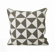 Ferm Living Large Geometry Cushion - Grey